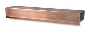 "24"" Copper Finish Waterwall Spillway"
