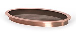 """Copper Splash Ring for 12"""" Spillways"""