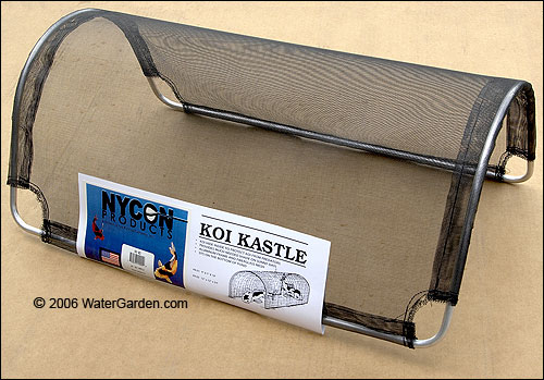 protect pond fish from herons with our koi kastle fish hide