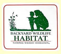 Certified Backyard Habitat aquanooga - backyard wildlife habitat